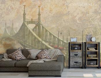 Фотообои  Мост в тумане