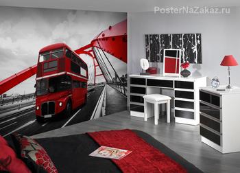 Фотообои Красный автобус