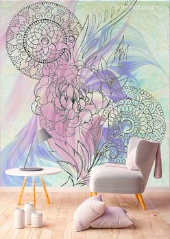 Фотообои Узоры с цветком