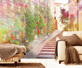 Фотообои Старинная цветочная лестница