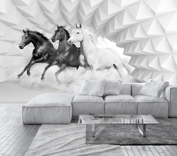 Фотообои Бегущие лошади