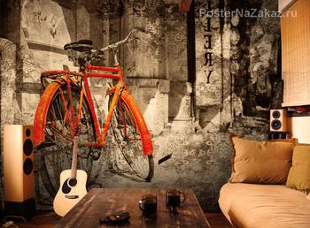Фотообои Красный велосипед